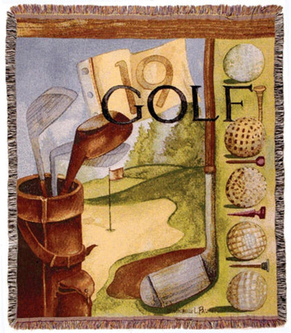 "Vintage Golf Throw Blanket 50"" x 60"""