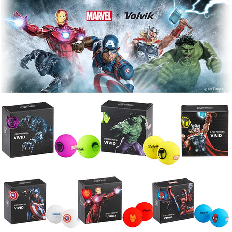 Volvik Marvel Character Golf Ball 4 pack