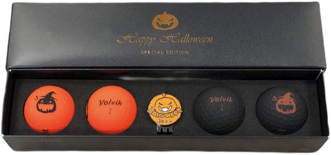 Volvik Vivid Happy Halloween Special Edition Golf Ball & Ball Marker Set