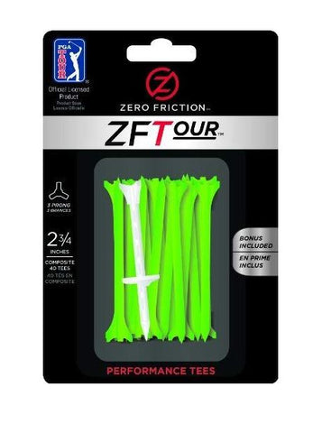"Zero Friction Golf Tees - Green (2.75"" x 40)"