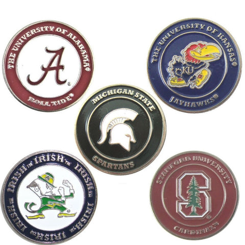 Team Golf Double Sided NCAA Collegiate Ball Markers