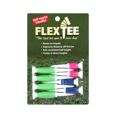 FlexTee Flexible Golf Tees - 8 Pack - Multi Heights