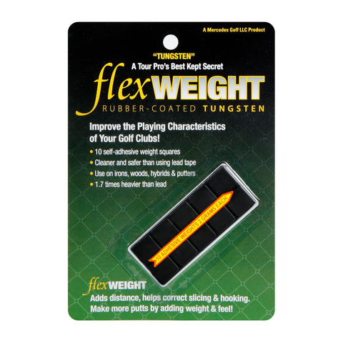 FlexTee Rubber Tungsten Golf Club Weights - 10 Pack