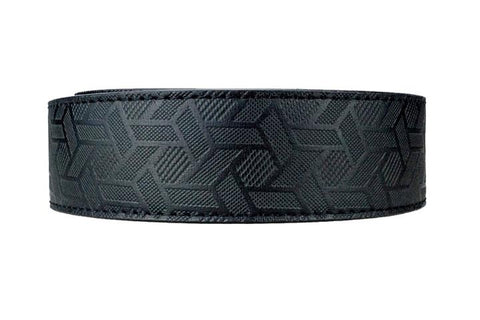 NexBelt Black Grid PreciseFit Leather Strap Belt