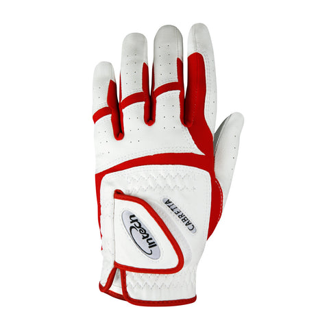 Intech Junior Golf Glove (Red/White)