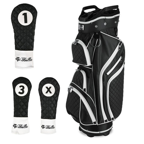 iBella Ladies Golf Cart Bag ( with 3 matching headcovers )