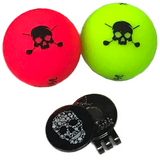 Volvik 2019 Limited Skull Edition Golf Balls w/ Marker
