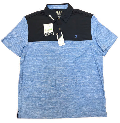 Izod Golf Mens Title Holder Block Polo