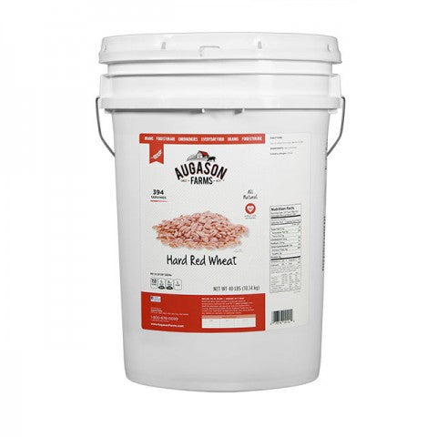 Grains - Hard Red Wheat 40 LB Pail - Emergency Food