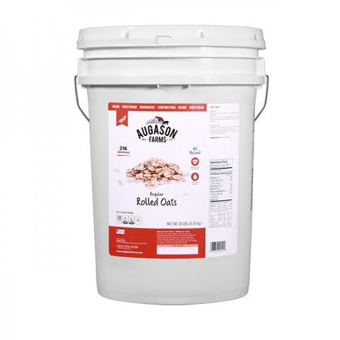 Grains - Regular Rolled Oats 20lb Pail