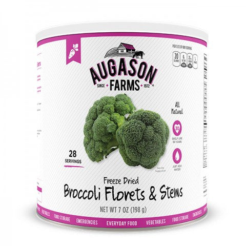 Vegatables - Freeze Dried Broccoli Florets & Stems #10 Can