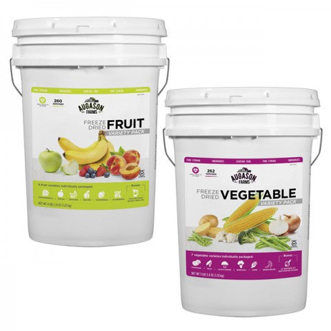 Freeze Dried Fruit & Vegetable Pail Combo