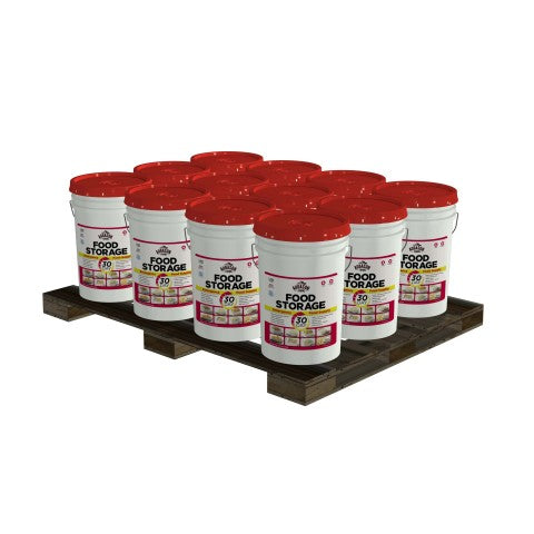 .Augason Premium Emergency 1-Year Food Supply (1 Person) Pails