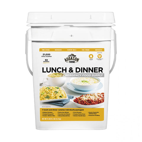 Augason Emergency Food Supply Lunch & Dinner Pail