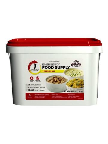 .Augason Emergency Food Pail 1 Person 1 Week Pail