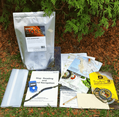 B.O.S.S. Navigation - Bug Out Survival Supplement Kit w/ Compass