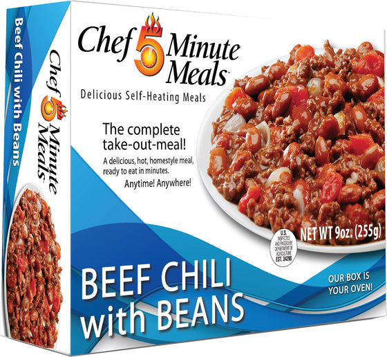 Chef 5 Minute Beef Chili with Beans - Case