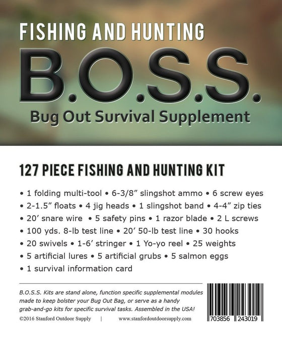 B.O.S.S. Fishing and Hunting - Bug Out Survival Supplement