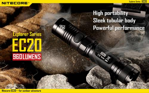 .Nitecore EC20 960 Lumen  242 Yard Compact Flashlight