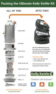 .Kelly Kettle Ultimate Base Camp Kit Stainless or Aluminum