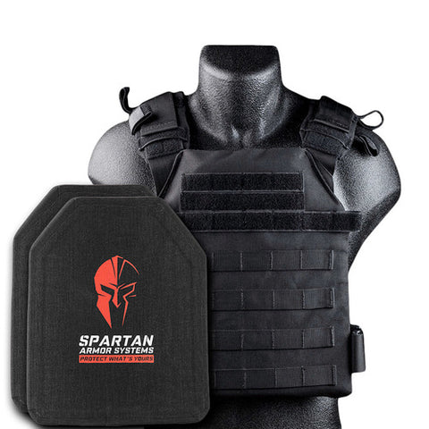 -Spartan Spartan Armor Systems™ with Condor Sentry Plate Carrier and Level IV SAPI Cut Multi-Curve Plates