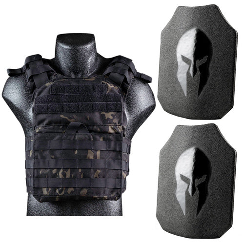 - Spartan AR550 Level III+ Cyclone Light Weight Sentry Plate Carrier Package