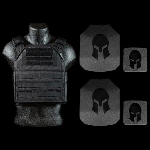 - Spartan AR550 Body Armor Shooters Cut and Spartan Plate Carrier Package