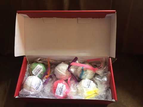 .Bath Bomb Set of 6 Subscription Box