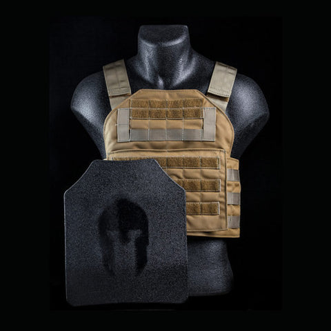 -Spartan Armor Systems ™ AR650 Armaply ™ Level III Plus Plate Carrier and Body Armor Platform 10 x 12 Plates