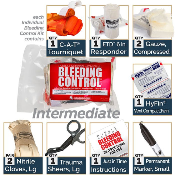 .Emergency Individual Public Access Bleeding Control Stations