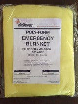 "Emergency First Aid Blanket Waterproof - Polyfoam ""58 x 90"""