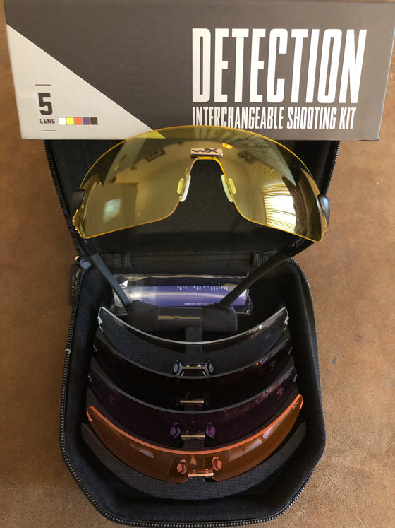 Wiley X Detection Ballistic Rated 5 Lens Package