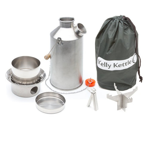 .Kelly Kettle Stainless Steel-Large - Basic Kit