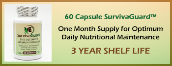 SurvivaGuard Emergency Preparadness Vitamin 1 Month 60 Count