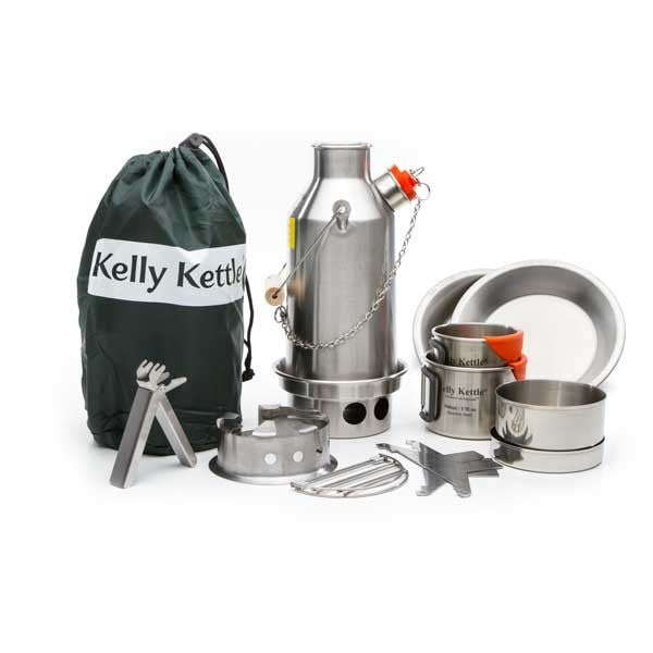 .Kelly Kettle Ultimate Stainless Trekker Kit