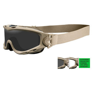 Goggle Wiley X Spear APEL Goggle/Smoke Grey-Clear Lens/Tan Frame