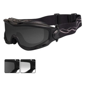 Wiley X Goggle Spear Ballistic Smoke Grey/Clear Lens/Matte Blk Frame