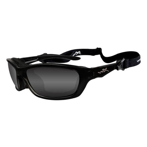 Wiley X P-17 Polarized Sunglasses Black Frame Green Lens