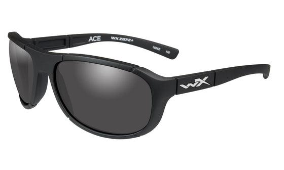 Wiley X Ace Sunglasses Smoke Grey Lens Matte Black Frame