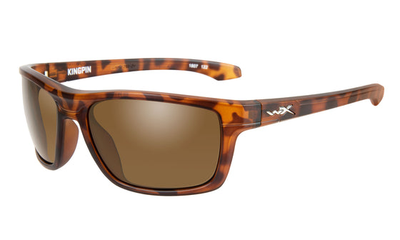 Wiley X Kingpin Sunglasses Brown Lens Matte Demi Frame
