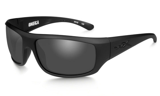 Wiley X Omega Sunglasses Smoke Grey Lens Matte Black Frame