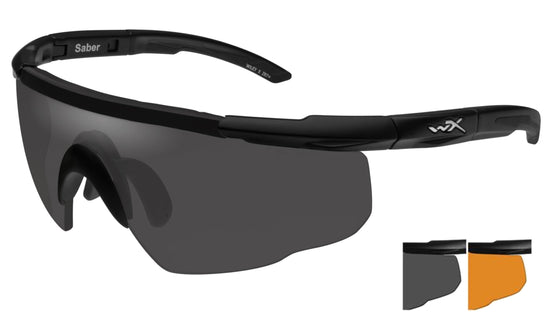 Wiley X Saber Advanced Ballistic Sunglasses 2 Lens Package