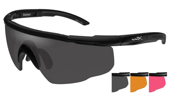 Wiley X Saber Advanced Ballistic Sunglasses 3 Lens Package