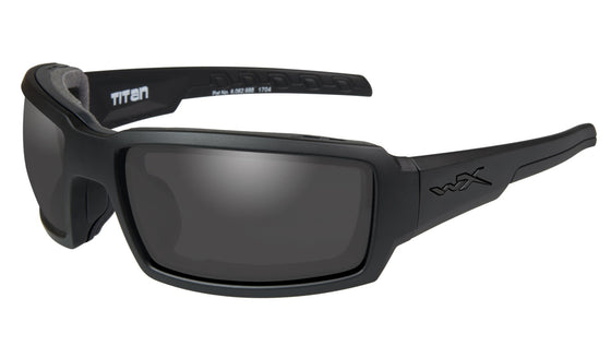 Wiley X Titan Sunglasses Smoke Grey Matt Black Frame
