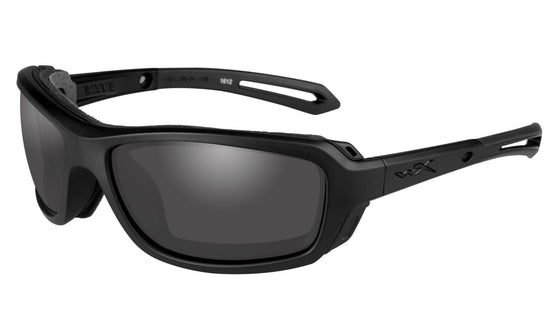 Wiley X Wave Sunglasses Smoke Grey or Clear Lens Matt Black Frame