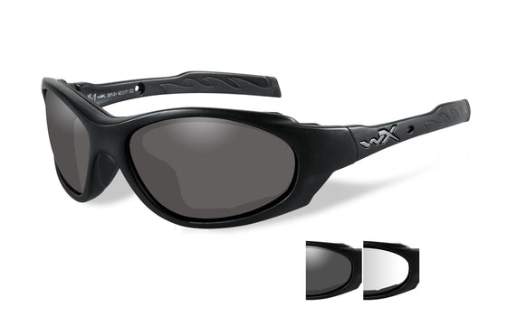 Wiley X XL-1 Advanced Ballistic Sunglasses 2 Lens Package Clear - Smoke Grey matte Black Frame