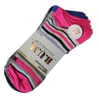 B.U.M Women's 20 Pairs of Colorful & Comfortable Lightweight Breathable Low Cut/No Show Socks