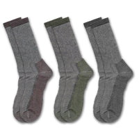 Clear Creek Men's Merino Wool Medium Weight Thermal Lined Boot Socks, 3 Pairs