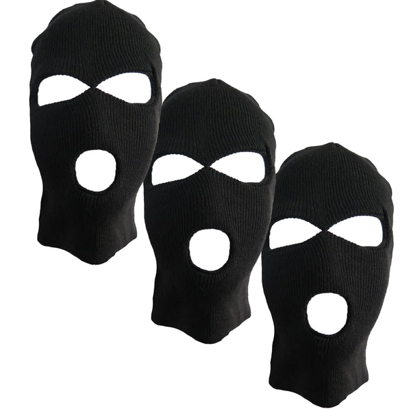 Adult Winter Balaclava Warm Knit Full Face Mask for Outdoor Sports 3-Hole Ski Mask