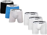 3-6 Pack Men's Boxer Briefs Tagless Cotton Underwear Open Fly
